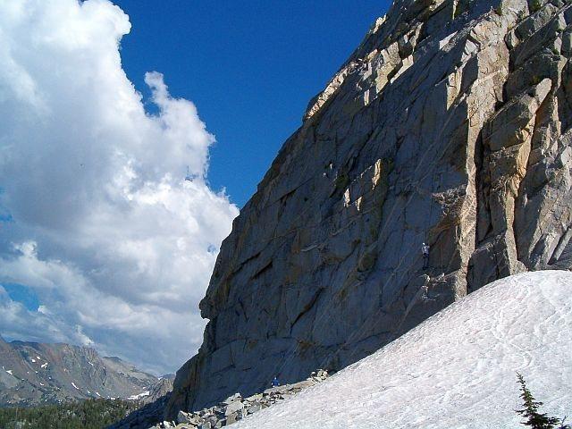 Climbing at Crystal Crag, Sierra Eastside