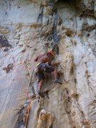 Rock Climbing Photo: Rajiv after the boulder start