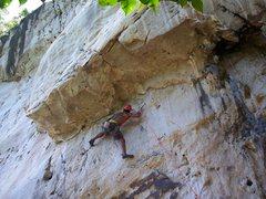 Rock Climbing Photo: Rajiv getting crazy feet that work!