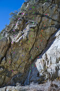 Rock Climbing Photo: New routes by Eco Challenge, from left to right: E...