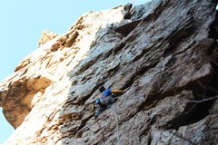 Rock Climbing Photo: Two Pitch Wall  Double Naught Spy (5.9R) trad  Cro...
