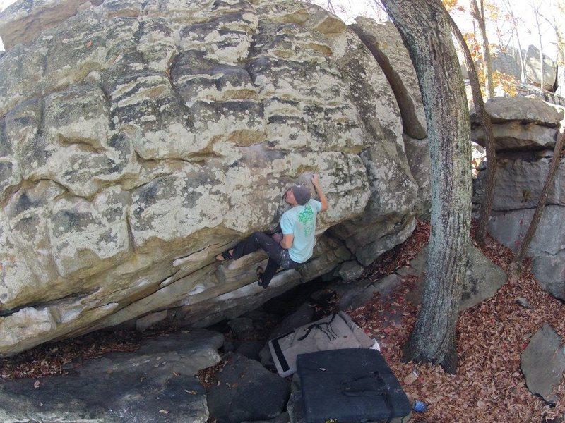 Rock Climbing Photo: Kinda scary
