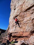 Rock Climbing Photo: Jerad at the crux.