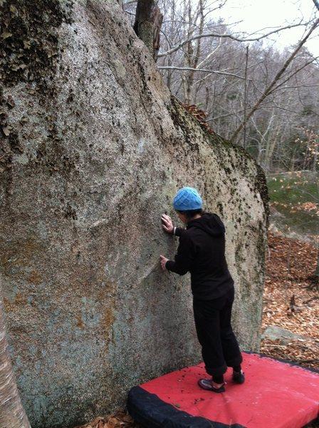 Rock Climbing Photo: Kayte getting ready to climb Paint Chips