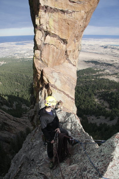 Trad Climbing on Devil's thumb in Colorado