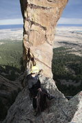 Rock Climbing Photo: Trad Climbing on Devil's thumb in Colorado