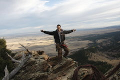 Rock Climbing Photo: Me on top of Devil's Thumb in Colorado
