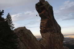 Rock Climbing Photo: Repelling from Devil's Thumb in Colorado
