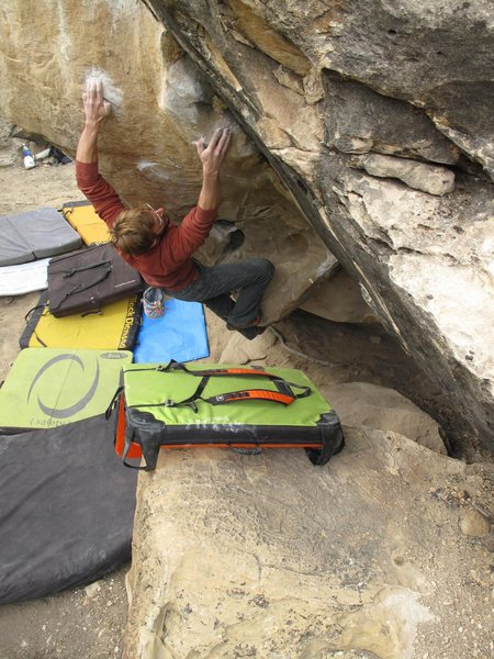 Rock Climbing Photo: two bad holds, two good feet