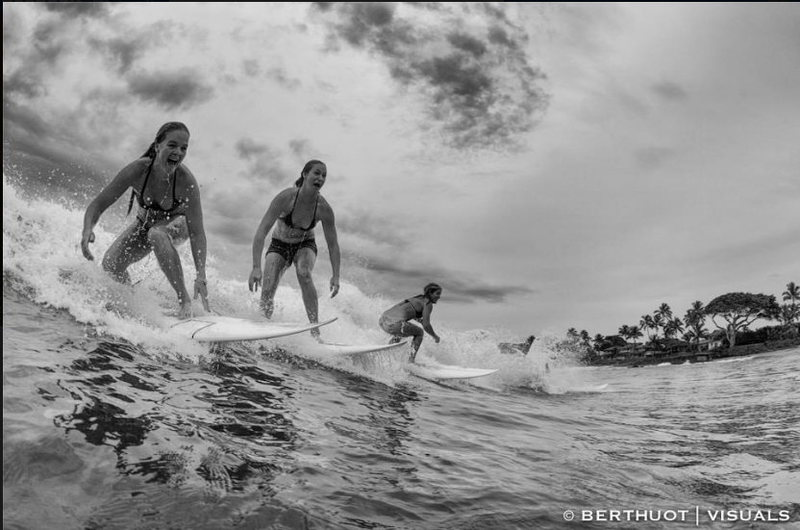 My friends Mechelle Crompton. Tatiana Howard, and Page Alms at the 2012 Thanksgiving Paia Bay Invitational<br> Photo: Franck Berthuot