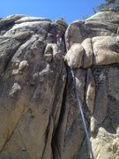 Rock Climbing Photo: Sheri on the Center route on this formation.  The ...