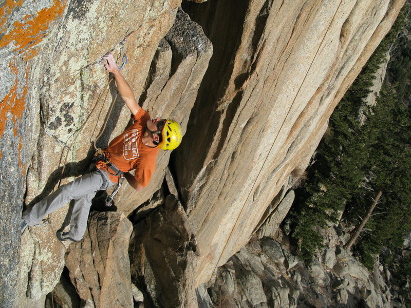 Rock Climbing Photo: Buster Jesik about to bust a move through the fina...
