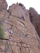 Rock Climbing Photo: Arjun midway up the climb