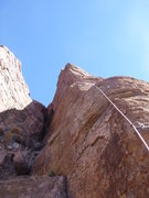 Rock Climbing Photo: Jimbo on the top after his flash of the route