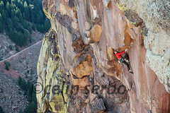 Rock Climbing Photo: Chris Weidner on the crux roof. Photo: Celin Serbo...