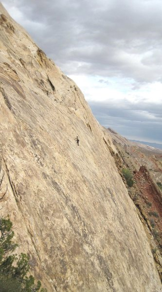 Jeff Achey on third ascent. First pitch