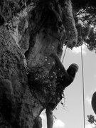 Rock Climbing Photo: Katie on Eleusis
