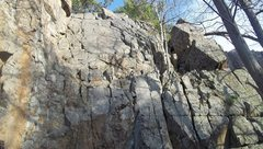 Rock Climbing Photo: Better view of right side. Climb left of small bir...
