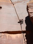 Rock Climbing Photo: Yep 5 Hexes...No tape....Hi-top...Rope harness...t...