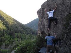 Rock Climbing Photo: Chris and Aren bouldering somewhere below the Orig...