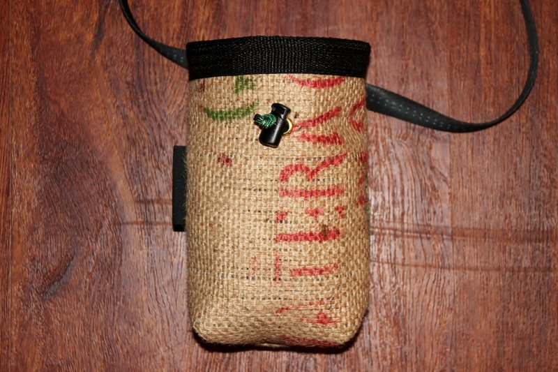 Coffee burlap bag for Kevin in California!  Logo on back.  Thanks for the continued support!