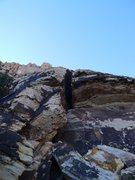 Rock Climbing Photo: Rising Moon/Sunset Slab start