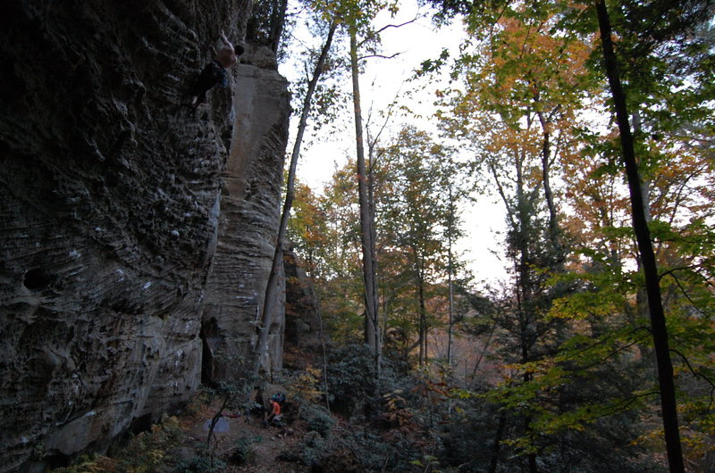 Rock Climbing Photo: Tripp on Everything That Rises Must Converge 5.11d
