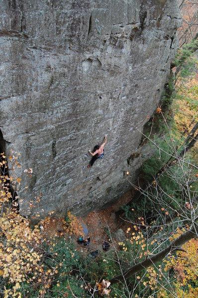 Rock Climbing Photo: Tripp on Nice to Know You 5.10b