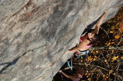 Rock Climbing Photo: Victoria Gamache starting the second pitch of &quo...