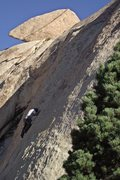 Rock Climbing Photo: A good first 5.10 lead.  Fussing at the second bol...