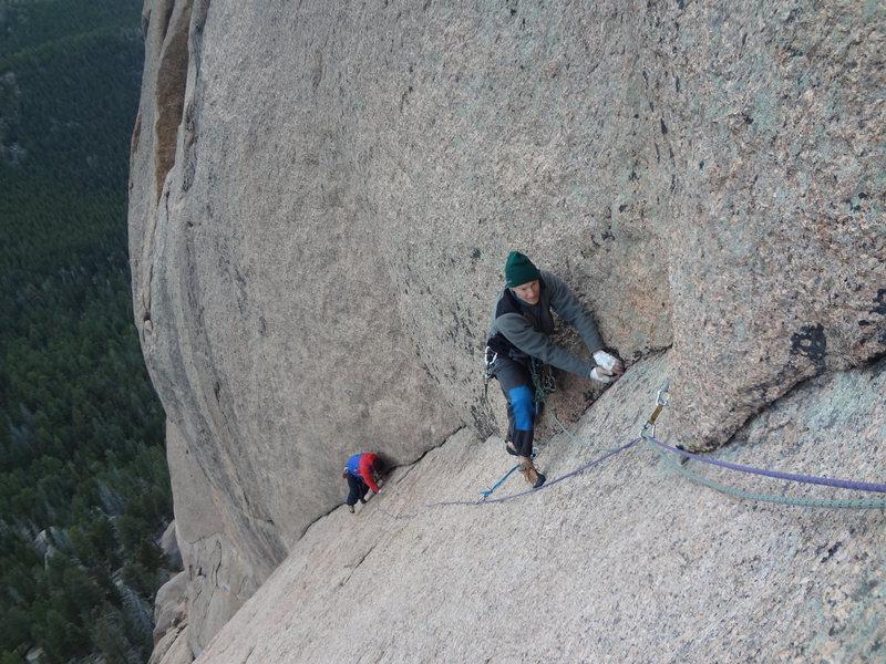 Doug Donato and Michael Colacino.  Trail of Tears. Wigwam Dome. Lost Creek Wilderness. Colorado. November 24th 2012.