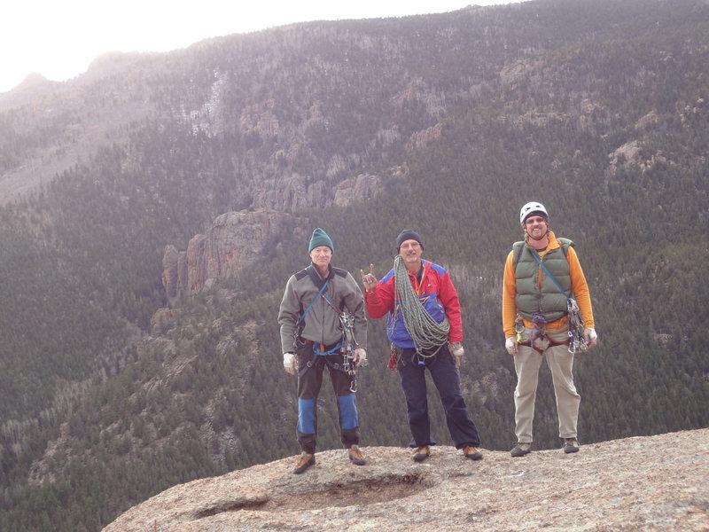 Doug Donato, Michael Colacino, and Alan Ream. Trail of Tears. Wigwam Dome. Lost Creek Wilderness. Colorado. November 24th 2012.<br>