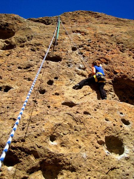 Rock Climbing Photo: Jessica getting the pump
