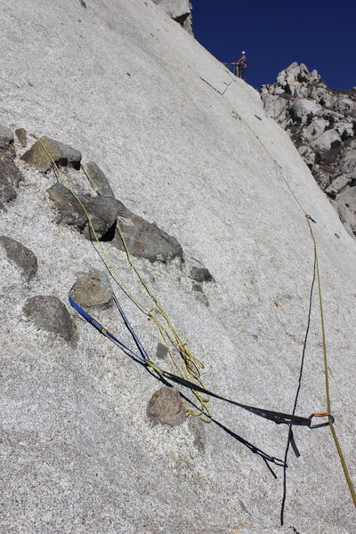 Rock Climbing Photo: Chickenhead slings at the start of the third pitch...