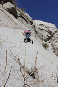 Rock Climbing Photo: Starting the 5.10+ friction traverse on the first ...