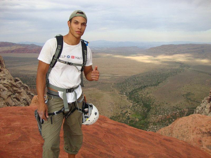 Rock Climbing Photo: Top of Mescalito after climbing Dark Shadows to th...