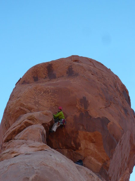 """Rock Climbing Photo: This is my """"5.7????"""" face on P2. Photo b..."""