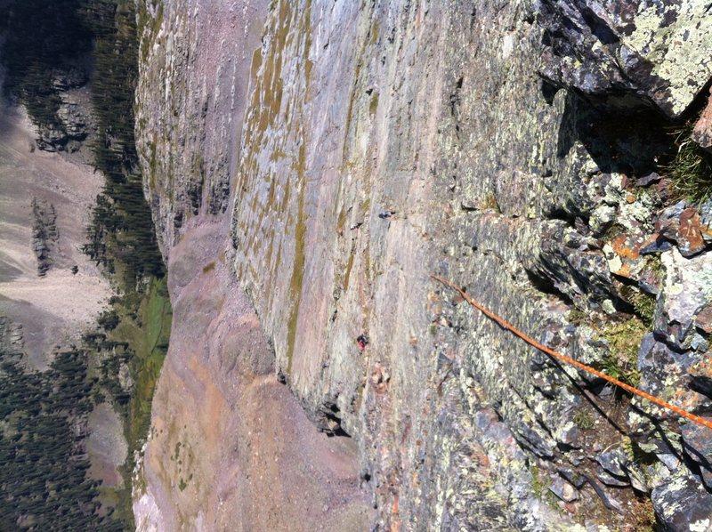 Rock Climbing Photo: First pitch up wham ridge