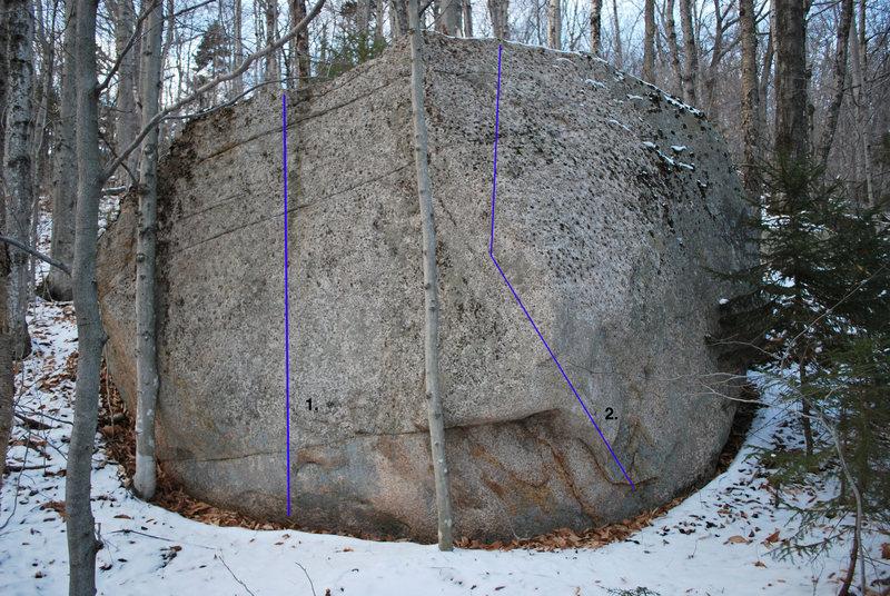 Rock Climbing Photo: 538 Boulder. 1. The Signal V2 2. The Noise V2