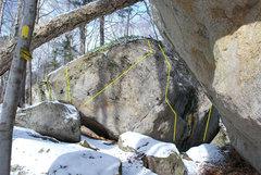 Rock Climbing Photo: The first of The Laboratory problems: 1. Mini Moo ...