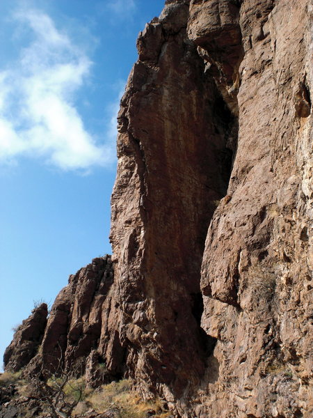 Rock Climbing Photo: A clean picture of the arete