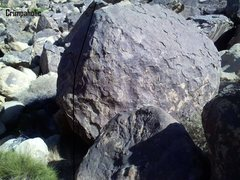 Rock Climbing Photo: Crimp problem on South Ringside
