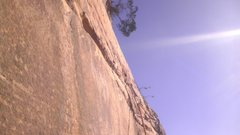Rock Climbing Photo: On P2,after following the off-width up and right, ...