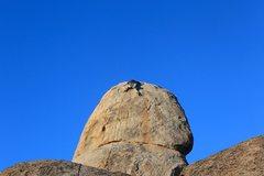 Rock Climbing Photo: Climbing the last few moves on the FA of The Rubst...