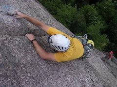 Rock Climbing Photo: mid lay back