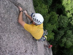 Rock Climbing Photo: toward the end of the lay back