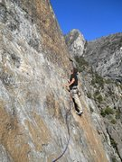 Rock Climbing Photo: Leading out on pitch 2 - Slab Happy Center