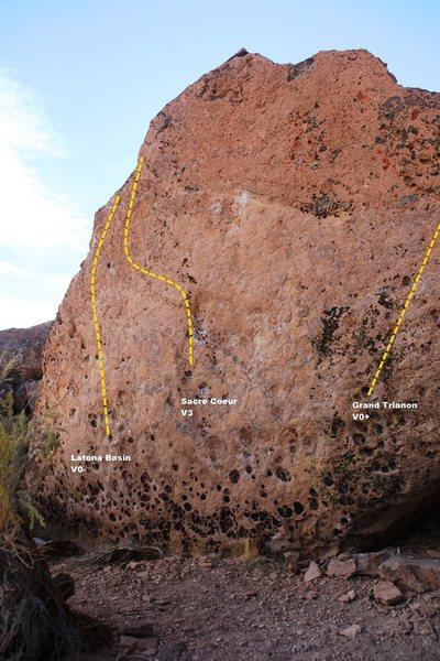 Rock Climbing Photo: Front Block Topo