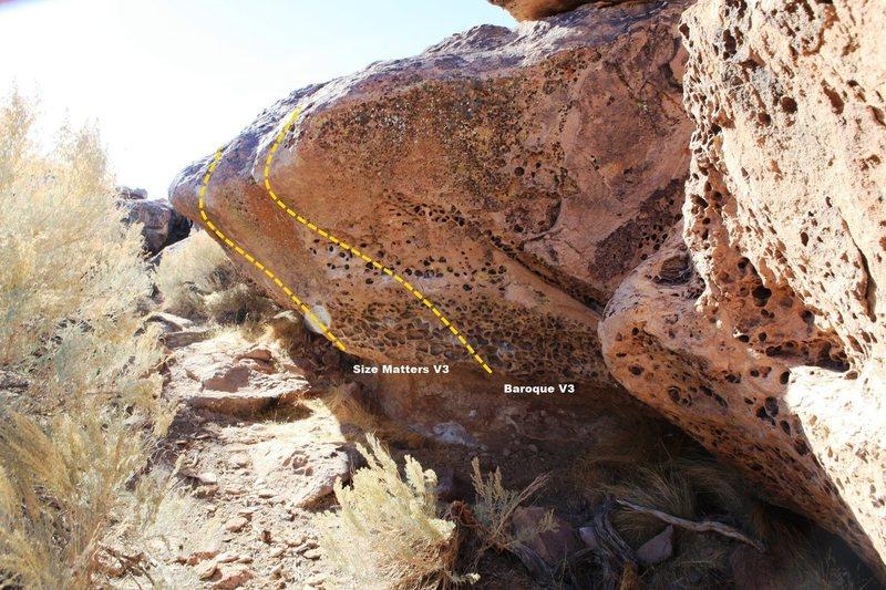 Rock Climbing Photo: Baroque Buttress (Right) Topo