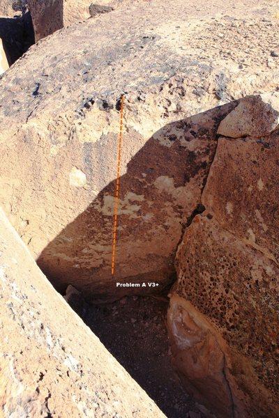 Rock Climbing Photo: Problem A Topo